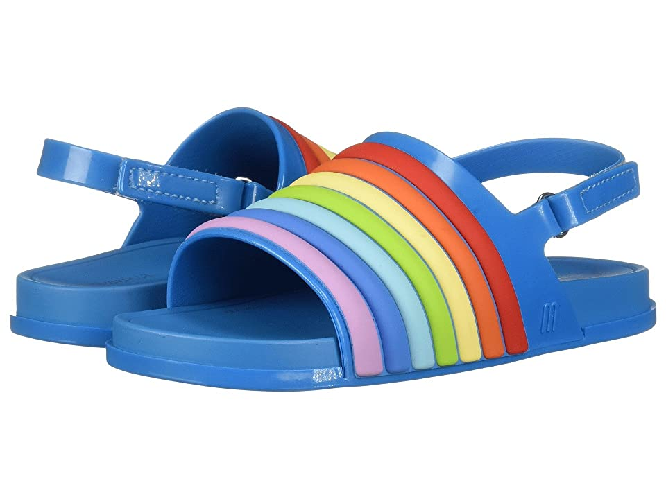Mini Melissa Mini Beach Slide Sandal Rainbow (Toddler/Little Kid) (Blue Colorful) Girl