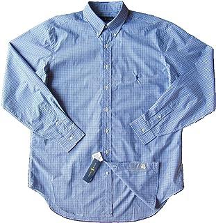 Polo Ralph Lauren Men's Big Tall Long Sleeve Button Front Oxford Shirt (4X Big, Navy Check)