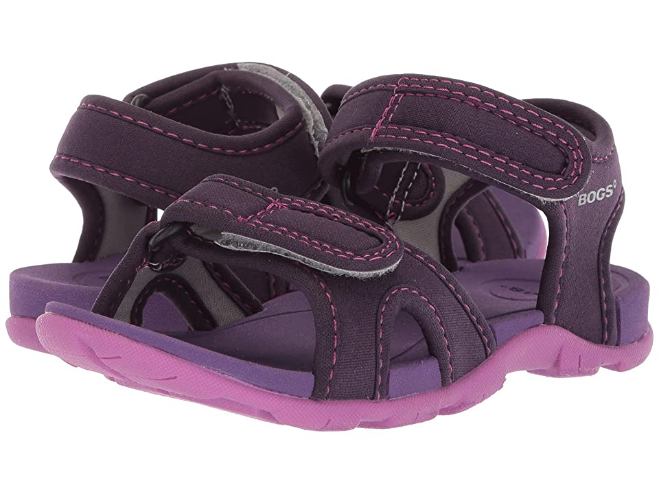 Bogs Kids Whitefish Solid (Toddler/Little Kid) (Eggplant Multi) Girls Shoes