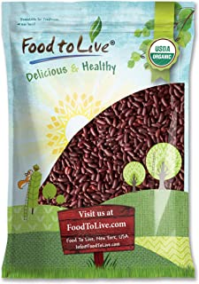 Sponsored Ad - Organic Dark Red Kidney Beans, 10 Pounds - Non-GMO, Kosher, Raw, Sproutable, Vegan