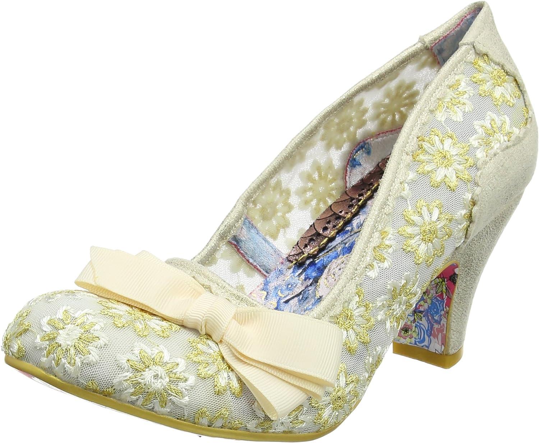 Irregular Choice Palm Cove - Cream (Textile) Womens Heels