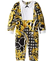 Versace Kids - Tux Bodysuit with Barocco Print (Infant)