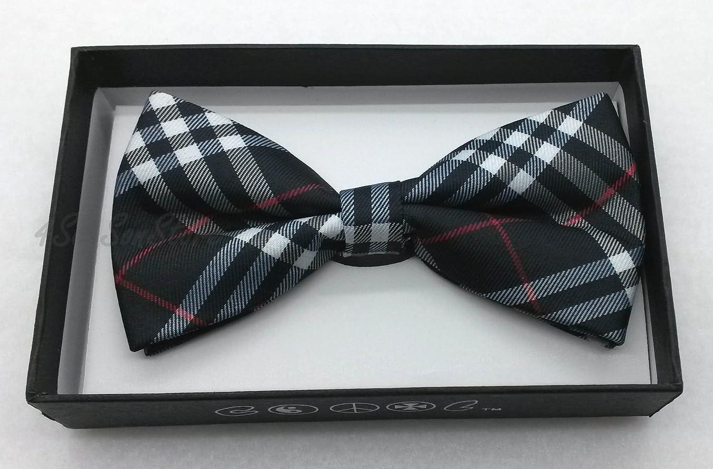 Color Tuxedo Classic Bow Tie, Cravat, Necktie, Neckwear Adjustable Men's Fashion Bowtie - Blue Pattern