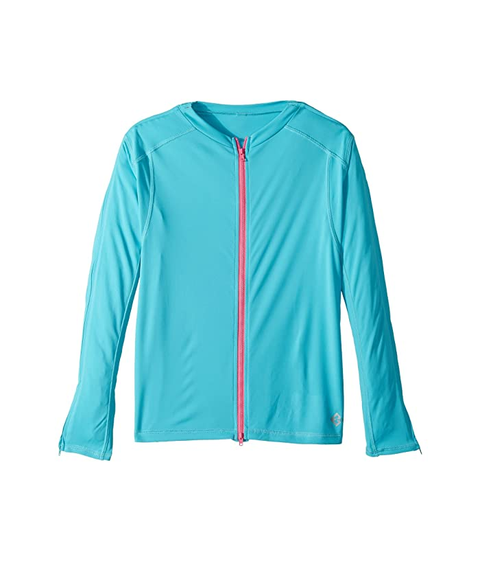 Reboundwear The Jenny L/S Easy Dressing Adaptive Top (Little Kids/Big Kids) (Turquoise) Women's T Shirt
