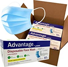 LANSWE - 3-Ply Disposable Face Masks with Elastic Earloops- Volume Pricing - Available in 50 pcs / 500 pcs / 1,000 pcs / 2...