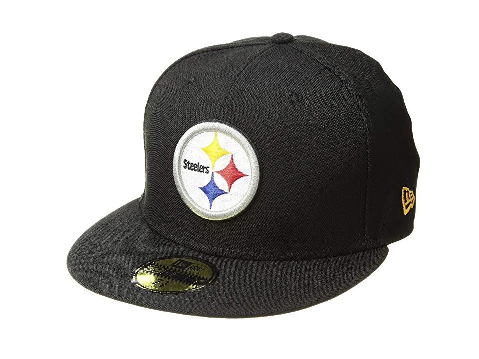 New Era 5950 Pittsburgh Steelers (Black) Baseball Caps