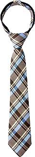 Spring Notion Boy's Tartan Plaid Woven Zipper Tie