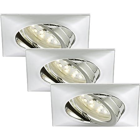 Briloner Leuchten LED Deckenstrahler mit 4 Spots chrom Lampe GU10 Deckenspot
