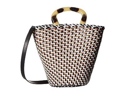 Loeffler Randall Agnes Fan Tote (Timber Brown/Black/White) Tote Handbags