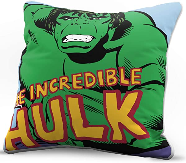 Jay Franco Marvel Avengers Incredible Decorative Pillow Cover Kids Super Soft 1 Pack Throw Pillow Cover Features Hulk Measures 15 Inches X 15 Inches Official Marvel Product