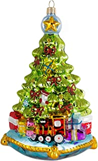 Miss Christmas 2019 Collection Christmas Tree with Gifts 7-Inch Blown Glass Ornament