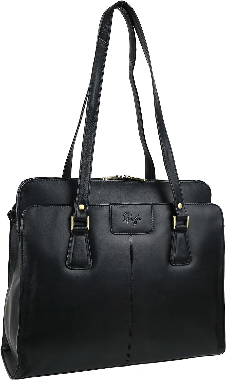GIGI Women'S Leather Leather Grab Work Bag