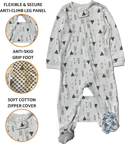 Crib Tent Alternative Anti Climb Toddler Pajamas To Keep Your Toddler From Climbing Out Of Crib Safety Pajama White 2T
