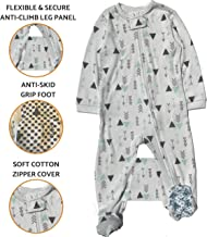 Crib Tent Alternative | Anti-Climb Toddler Pajamas to Keep Your Toddler from Climbing Out of Crib - Safety Pajama (White, 2T)