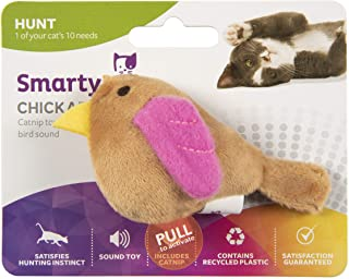 SmartyKat®, Chickadee Chirp™, Electronic Sound Cat Toy, Soft Plush Chirping Bird, Interactive, With Catnip and Stuffing