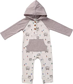 4a040a16f8c8 Asher   Olivia Baby Romper Hooded Baby Boy Jumpsuit Long-Sleeve Coverall  Hoodie
