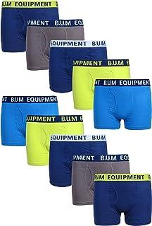 B.U.M. Equipment Boys 10 Pack Solid Boxer Briefs Underwear