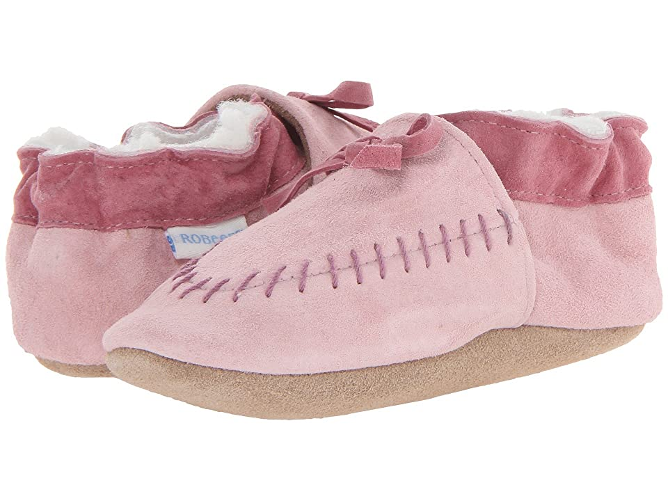 Robeez Cozy Moccasin Soft Soles (Infant/Toddler) (Pink) Girls Shoes