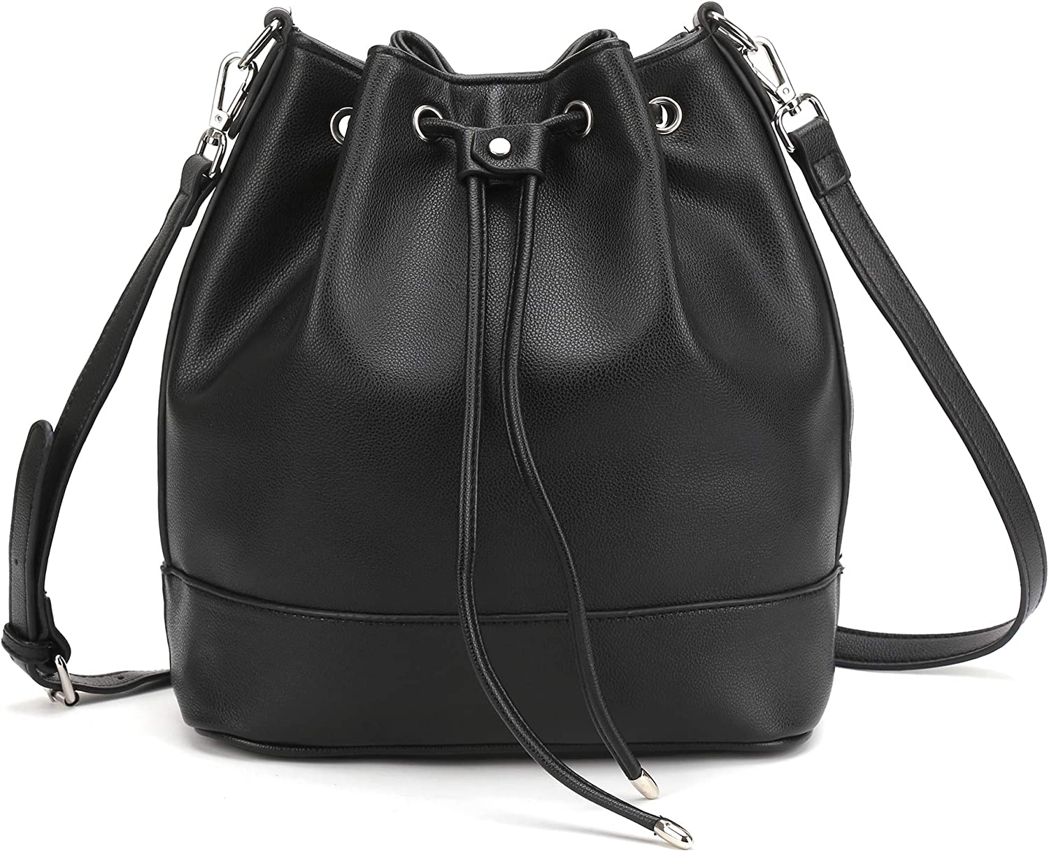 AFKOMST famous Drawstring Bucket Bag and Purses Leath PU For Soft Discount mail order Women