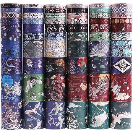 Lychii 60 Rolls Multi-Pattern Washi Tape Ruban Adhésif Papier Décoratif Masking Tape Scrapbooking, Embellissez Bullet Journal, l'Ordre