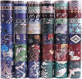 Lychii 60 Rolls Multi-Pattern Washi Tape Ruban Adhésif Papier Décoratif Masking Tape Scrapbooking, Embellissez Bullet Jour...