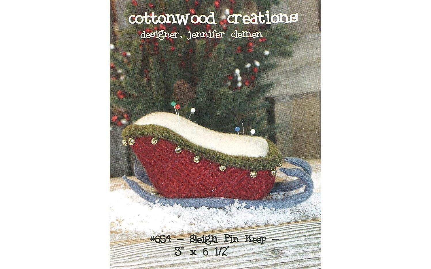 Cottonwood Creations CWC654 Sleigh Pin Keep Pattern