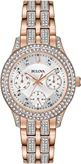 Women's Swarovski Crystal Quartz Watch with Stainless-Steel Strap, Rose Gold, 16 (Model: 98N113)