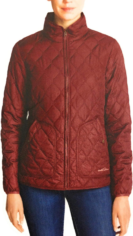 Eddie Bauer Women's Mod Quilted Field Jacket (XS) Dark Berry
