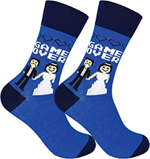 Game Over Wedding Socks for Groom - Funny Father of the Bride Gift - Groom Sock