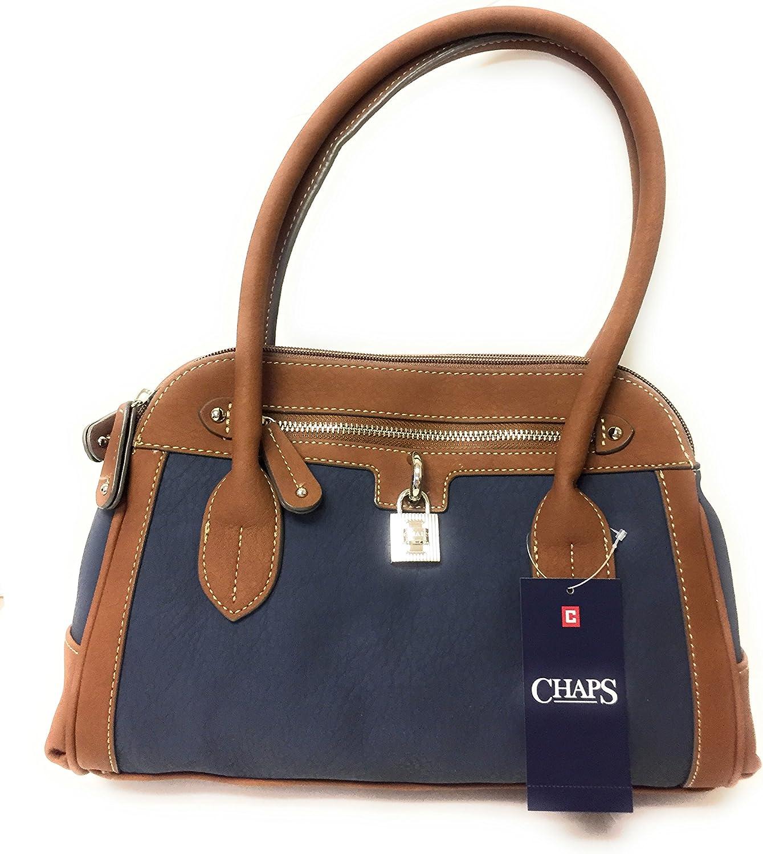 Chaps Angelina Satchel Handbag Shoulder bag Navy bluee