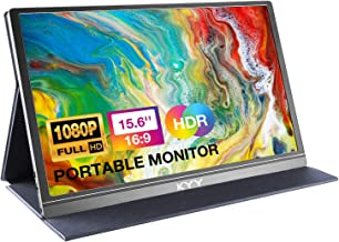 Portable Monitor - KYY 15.6inch 1080P FHD USB-C Laptop Monitor HDMI Computer Display HDR IPS Gaming Monitor w/Premium Smar...