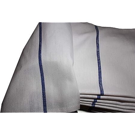 100/% Linen Kitchen Dish Tea Towel Rustic Handmade Navy Narrow Stripe AZ033