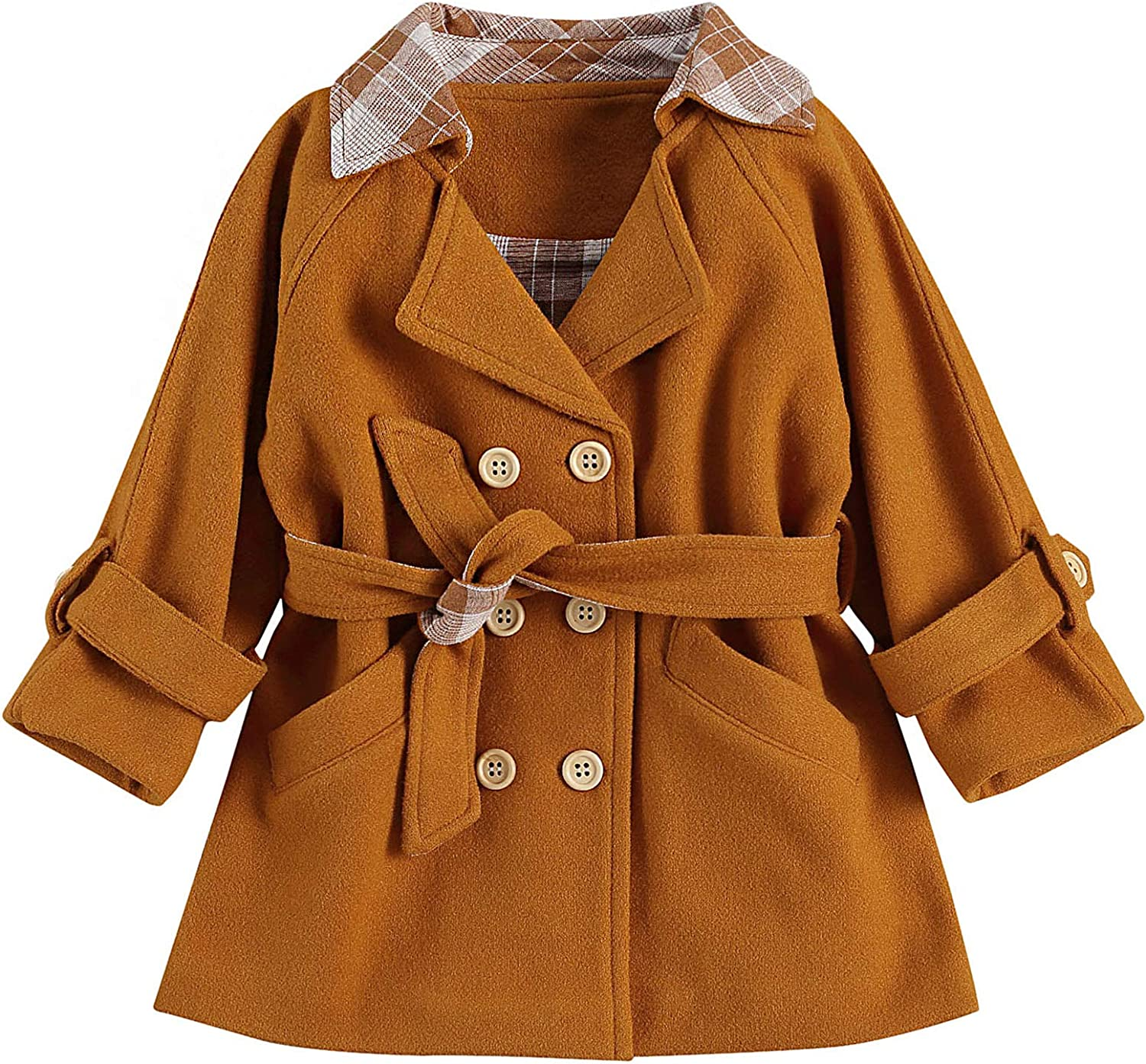 ZAXARRA Toddler Baby Girls Jacket Long Sleeve Trench Coat Denim Outwear Winter Warm Clothes Fall Outfits