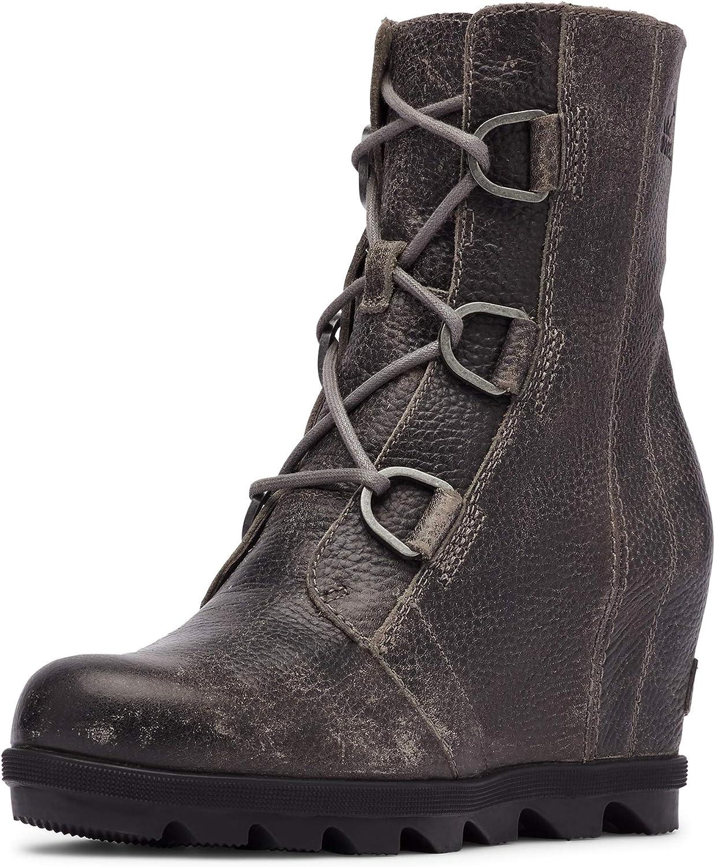 Sorel Women's Joan of Arctic Wedge II Boot - Light Rain - Waterproof - Quarry - Size