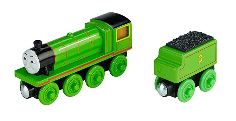 Fisher-Price Thomas & Friends Wooden Railway, Roll and Glow Henry - Battery Operated