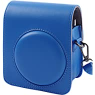 SAIKA PU Leather Case for Fujifilm Instax Mini 70 Instant Film Camera - Cobalt Blue