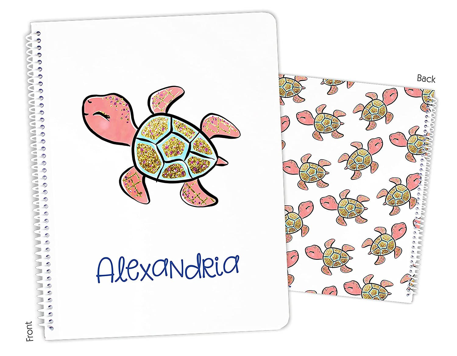 Personalized Sea Choice Turtle sale Spiral Bound Notebook Sketchbook