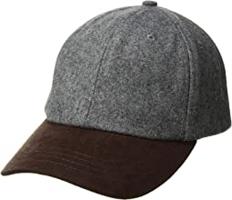 CTH1502 Wool Crown and Faux Suede Brim Baseball Cap