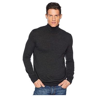 Polo Ralph Lauren Washable Merino Turtleneck Sweater (Dark Granite Heather) Men