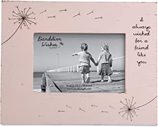 """Pavilion Gift Company 77152 Dandelion Wishes Frame """"Friend"""" 9.2 X 0.8 X 7.5 inches Pink"""