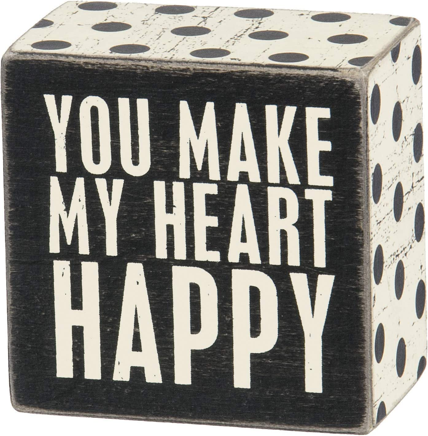 Primitives by Kathy Polka Dot Trimmed Sign x Max 85% OFF Heart Sale price H Box 3