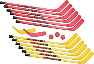 Champion Sports Rhino Stick Elementary Hockey Set (Red/Yellow, 36-Inch)