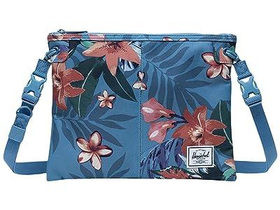 Herschel Supply Co. Alder (Summer Floral Heaven Blue) Cross Body Handbags