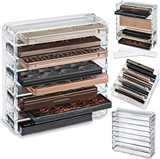 byAlegory Acrylic Medium Eyeshadow Palette Makeup Organizer W/Removable Dividers Designed To Stand & Lay Flat | 8 Space Or...