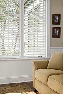 Better Homes and Gardens 2 Faux Wood Blinds, White
