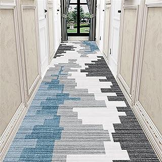 TONGQU Long Tapis de Couloir, Moderne Géométriques Antidérapant Polyester Tapis de Passage pour Couloir/Cuisine/Chambre/En...