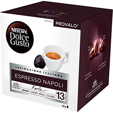 Nescafé Dolce Gusto Espresso Napoli - Café - 48 Capsules (Pack de 3 Boîtes x 16) 384g
