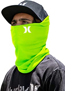 Hurley Multipurpose Lightweight Neck Gaiter Face Mask with Moisture Wicking Technology