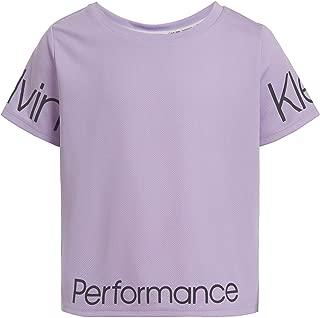 Calvin Klein Big Girls' Performance Crop Top Tee Shirt