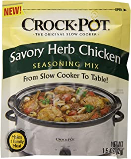 Crock Pot Savory Herb Chicken Seasoning Mix (Pack of 4) 1.5 oz Packets